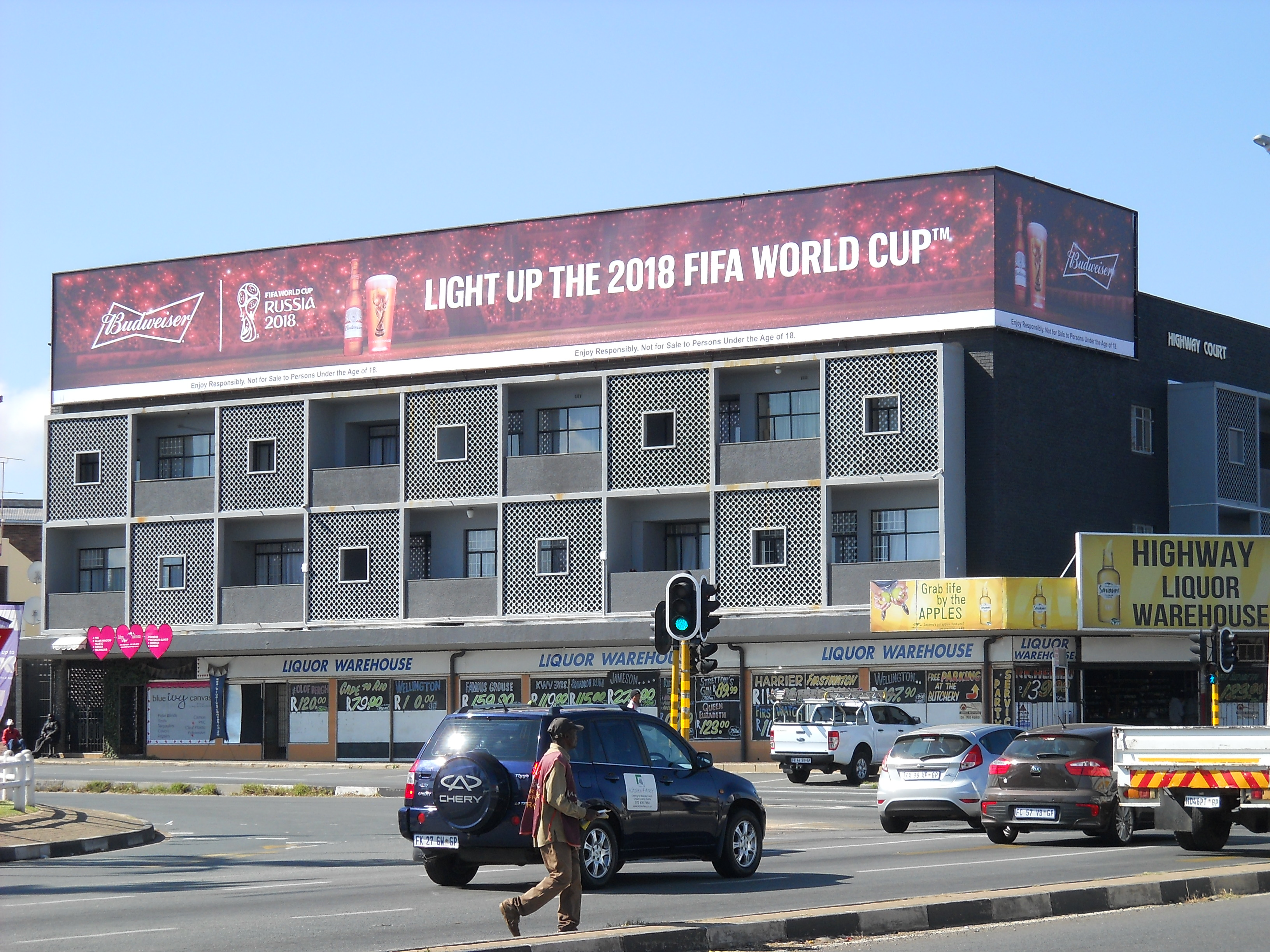 Sky-sign: World Cup Budweiser Campaign.